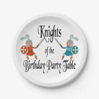 Prato De Papel Cavaleiros da mesa da festa de aniversário
