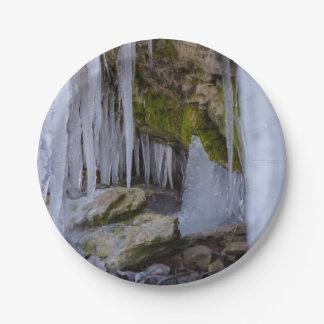 Prato De Papel Caverna do gelo