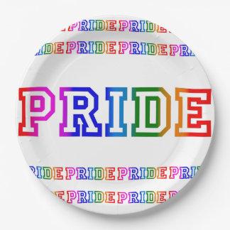 """Prato De Papel Celebração 9"""" do ORGULHO do arco-íris placa de"""