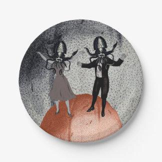 Prato De Papel Celebração da dança dos aliens
