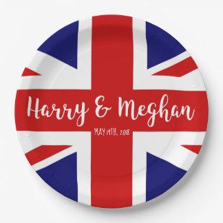 Prato De Papel Celebração real de Harry & de casamento de Meghan