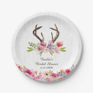 Prato De Papel Chá de Bois do falso dos Wildflowers dos Antlers