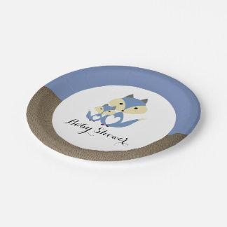 Prato De Papel Chá de fraldas de serapilheira do Fox azul