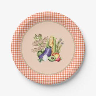Prato De Papel Chá de fraldas do mercado dos fazendeiros