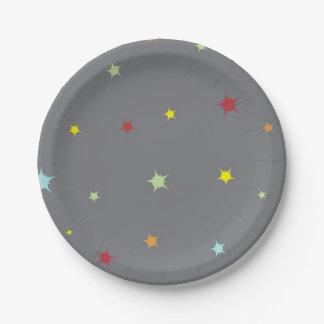 Prato De Papel Chá temático do Placa-Bebê do partido da estrela