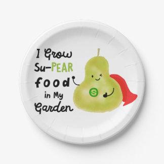 Prato De Papel Chalaça positiva da pera - eu cresço a comida de