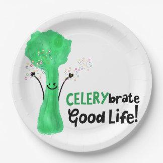 Prato De Papel Chalaça positiva do aipo - boa vida de Celerybrate