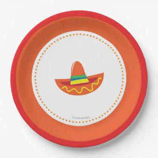 Prato De Papel Chapéu do Sombrero das placas de papel da festa