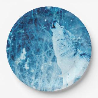 Prato De Papel Chapéus do papel do lobo do urro