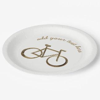 Prato De Papel Ciclista do ciclismo da bicicleta da bicicleta do