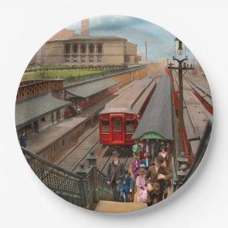 Prato De Papel Cidade - Chicago - a estação 1907 da rua de Van