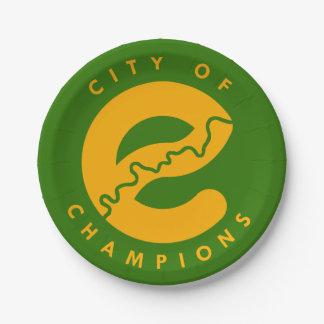 Prato De Papel Cidade das placas de papel dos campeões