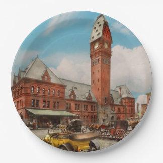 Prato De Papel Cidade - mal de Chicago - estação 1910 de Dearborn