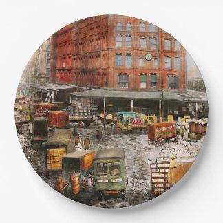 Prato De Papel Cidade - New York NY - colada em uma rotina 1920