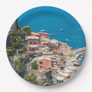 Prato De Papel Cinque Terre Italia no Riviera italiano
