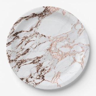 Prato De Papel Cinzas brancas de cobre metálicas de pedra de