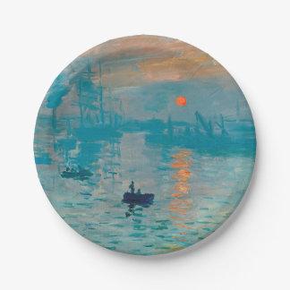 Prato De Papel CLAUDE MONET - impressão, nascer do sol 1872