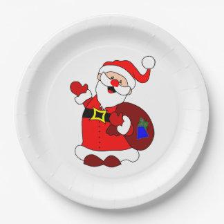 Prato De Papel Clipart do saco de Papai Noel e de presente