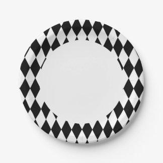 Prato De Papel Colora as placas de papel do Harlequin variável