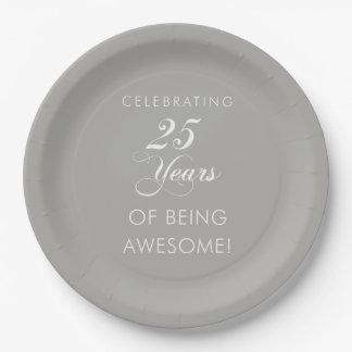 Prato De Papel Comemorando 25 anos impressionantes de placas de