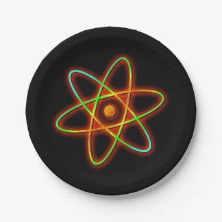 Prato De Papel Conceito atômico