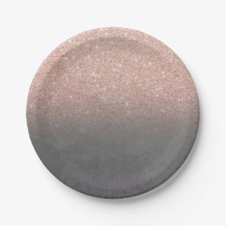 Prato De Papel Concreto cinzento do cimento do ombre cor-de-rosa
