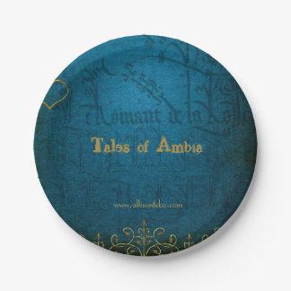 Prato De Papel Contos das placas de papel de Ambia