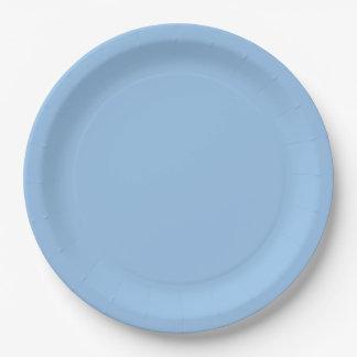 Prato De Papel Cor do azul B01