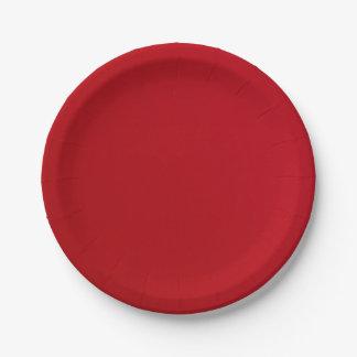Prato De Papel Cor vermelha lisa