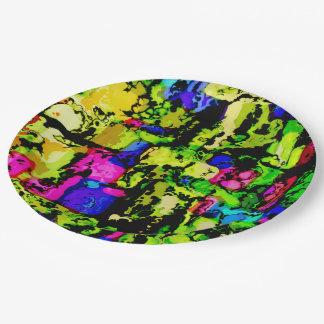 Prato De Papel cores e impressões 3
