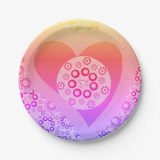 Prato De Papel Costume lavendar do rosa das placas de papel
