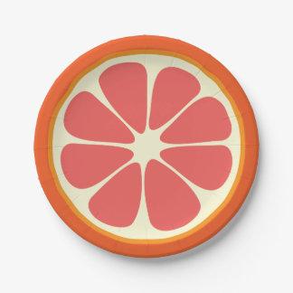 Prato De Papel Cozinha suculenta da fatia dos citrinos do verão