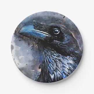 Prato De Papel #crow do pássaro do corvo