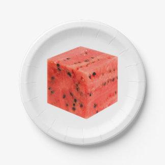 Prato De Papel Cubo vermelho doce fresco original da comida da