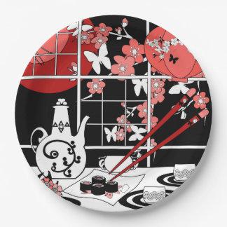 Prato De Papel Culinária japonesa