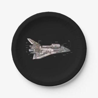 Prato De Papel Cutaway do vaivém espacial