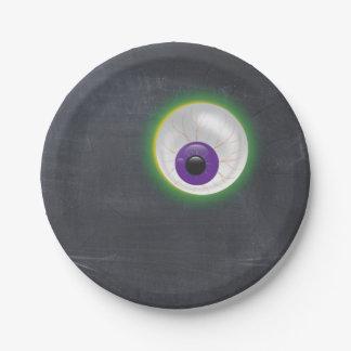 Prato De Papel Cyclops do olho do globo ocular do fantasma do