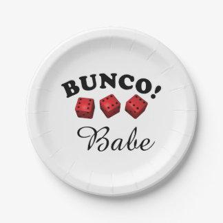 Prato De Papel Dados e borracho de Bunco