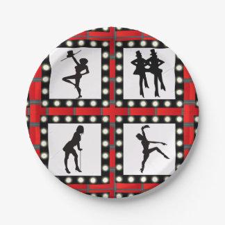 Prato De Papel Dança dos artistas da taberna da dança