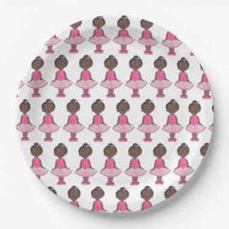 Prato De Papel Dançarino cor-de-rosa do considerando da dança do