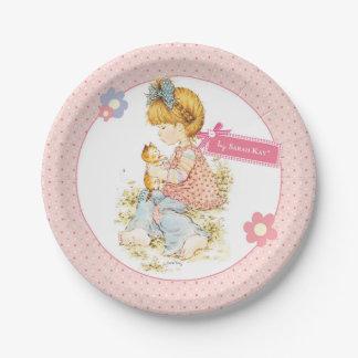 """Prato De Papel De """"placa de papel 7"""" do partido pequeno Fleur"""""""