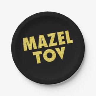 Prato De Papel Decorações-Mazel judaicas Tov do partido
