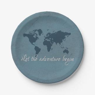Prato De Papel Deixe a aventura começar
