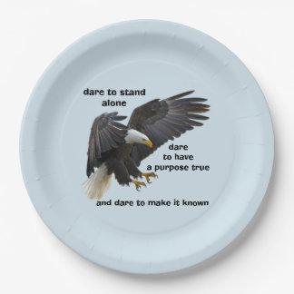 Prato De Papel Desafio a estar edição sozinha, americana da águia