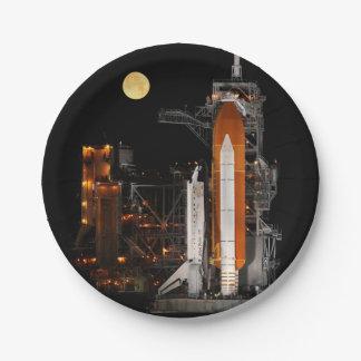 Prato De Papel Descoberta e lua do vaivém espacial
