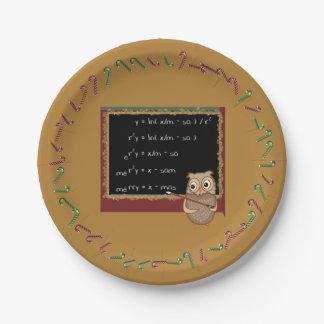 Prato De Papel Desejo do Natal da matemática