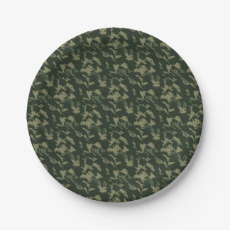 Prato De Papel Design bege cinzento verde escuro de Camo da