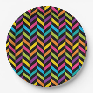 Prato De Papel Design colorido 1 da forma na moda brilhante de