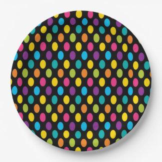 Prato De Papel Design colorido 3 da forma na moda brilhante de