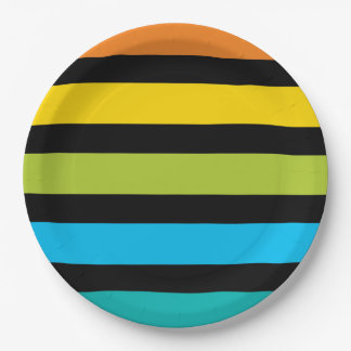 Prato De Papel Design colorido 4 da forma na moda brilhante de